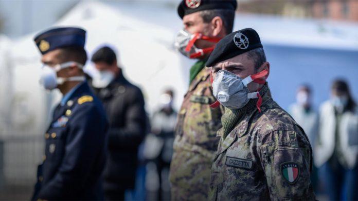 Italy Military coronavirus lockdown