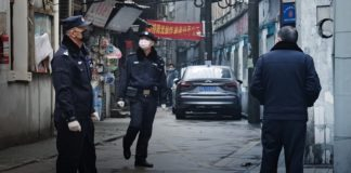 Police, China, Protest, Coronavirus