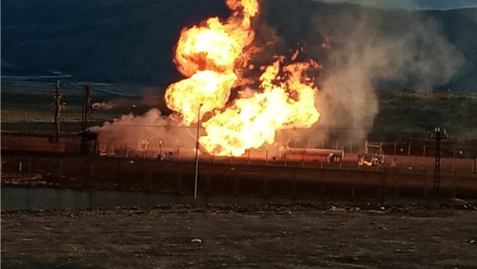 Turkey, Iran gas pipeline explosion