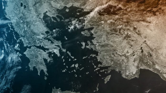 Turkey, Greece from space