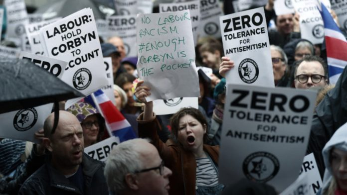 Labour Party Anti-Semitism Protest