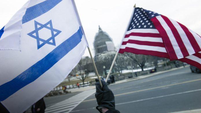 Israeli, American flags