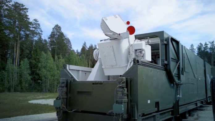Russian The mobile Peresvet high energy laser weapons system.