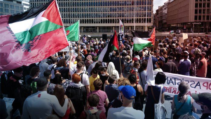 Anti-Israel Protests in Brussels Belgium