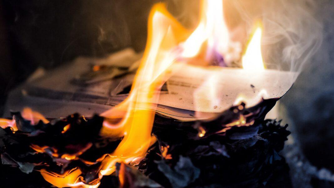 Christian persecution China, Burning Documents