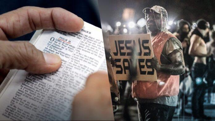 "Sam Bethea, aka the ""Jesus Saves guy"""