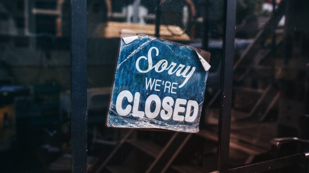 Sorry We're Closed - Coronavirus Lockdown