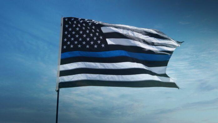 Blue line Police Flag