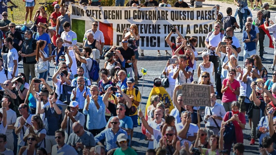 Rome Coronavirus Protests