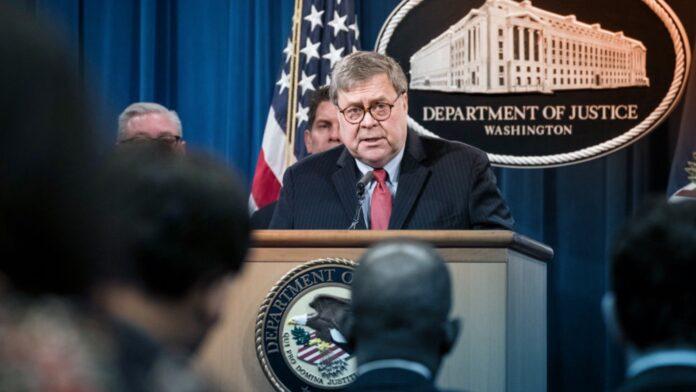 Department of Justice, William barr