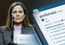 Amy Coney Barrett, Webster's Dictionary 'preference'