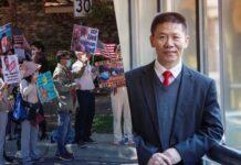 Pastor Bob Fu, protest