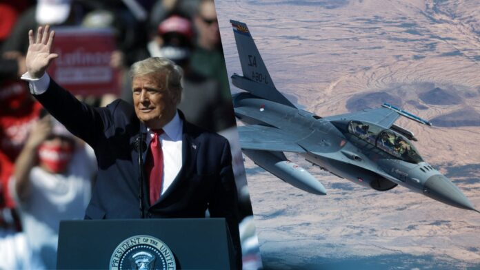 F-16s intercept plane flying too close to Trump rally in Arizona