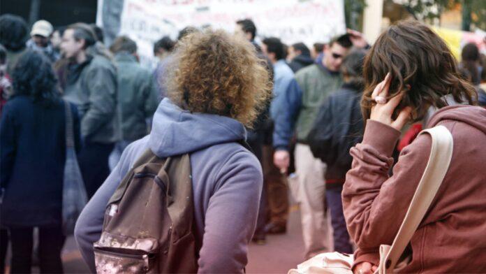 collage campus protest