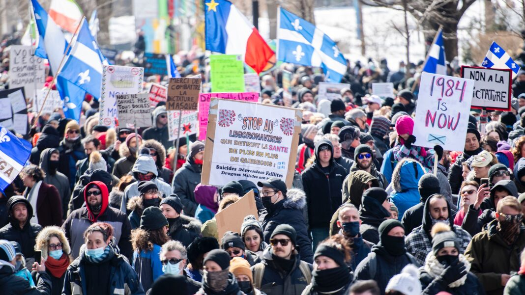 Montreal COVID protests