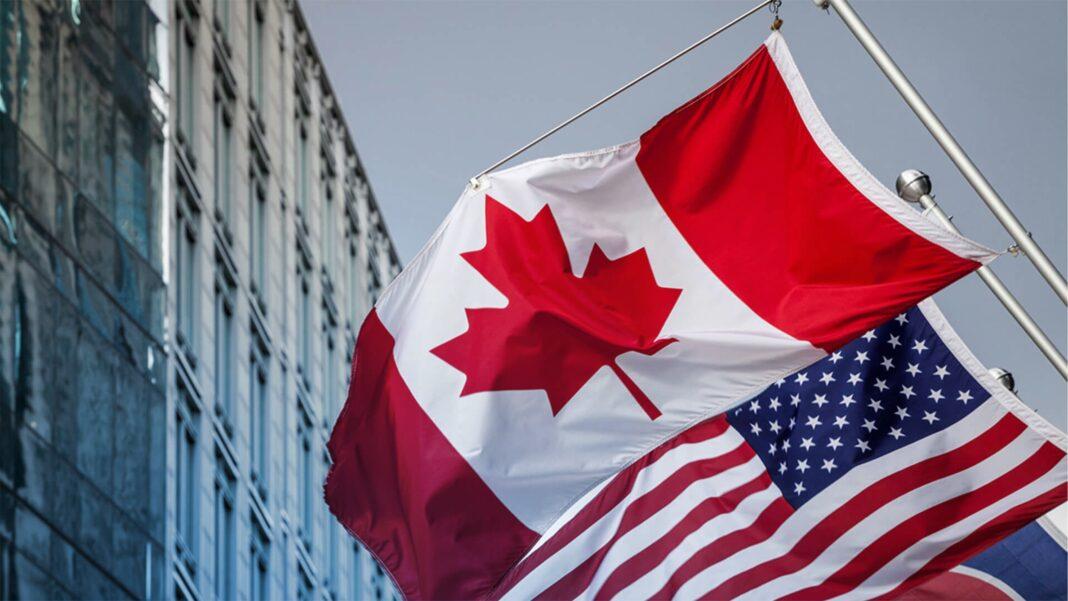 Canada, US Flag
