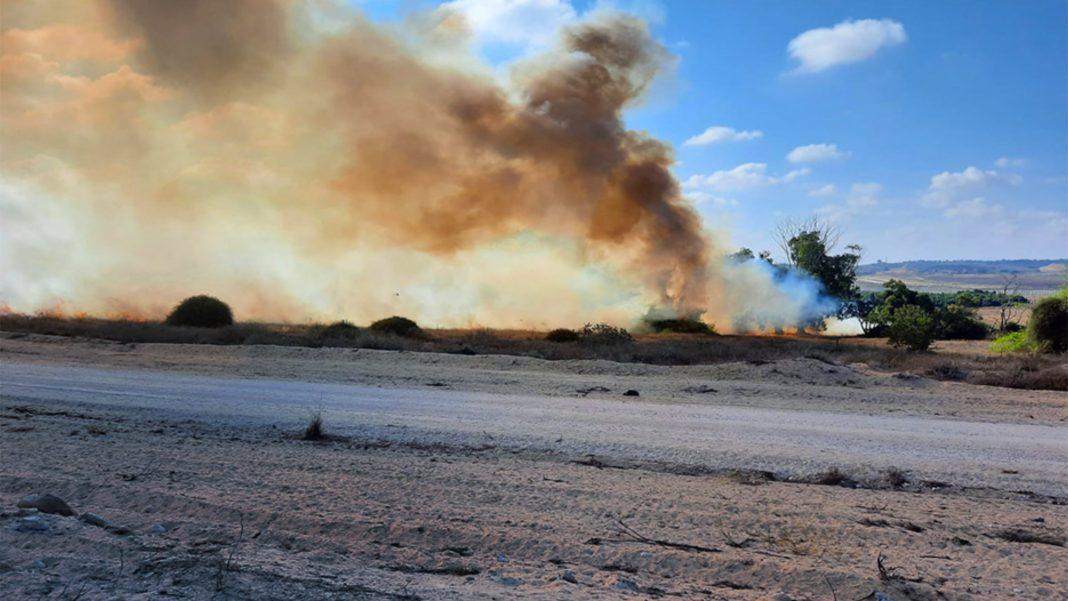 Southern Israel Fire, incendiary balloons