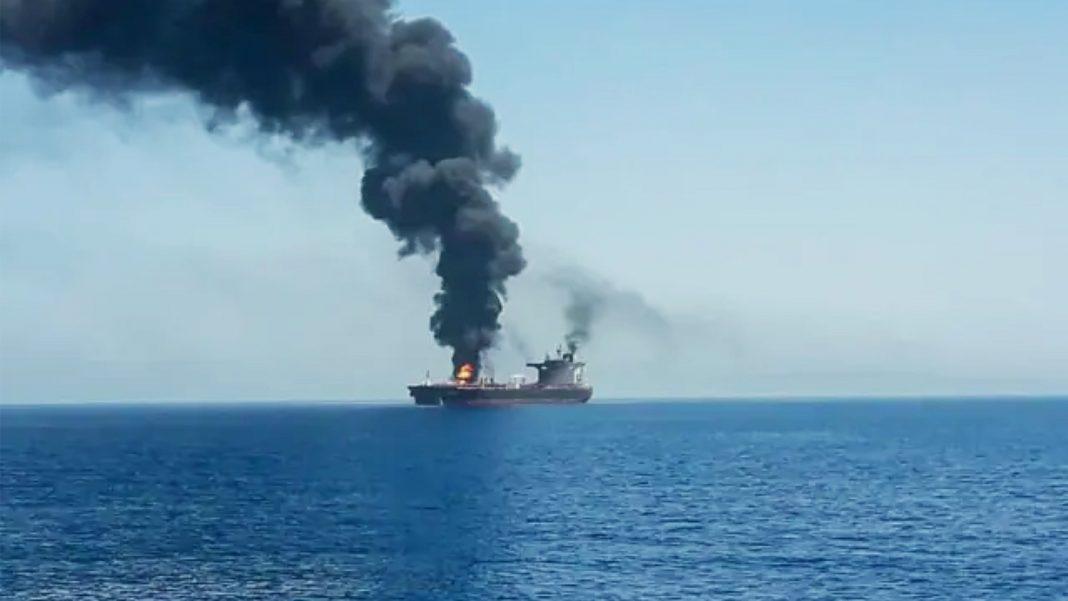Iran Attacks Ship in gulf of Oman